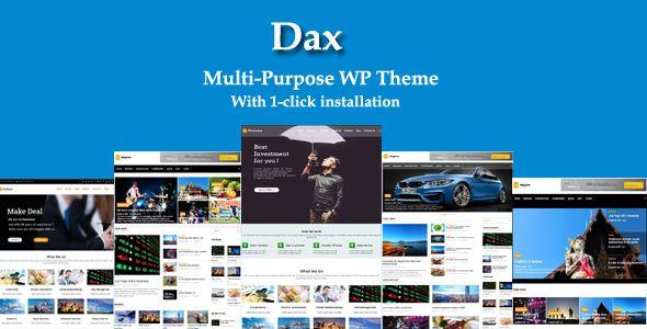 Dax - Responsive Multi-Purpose Theme
