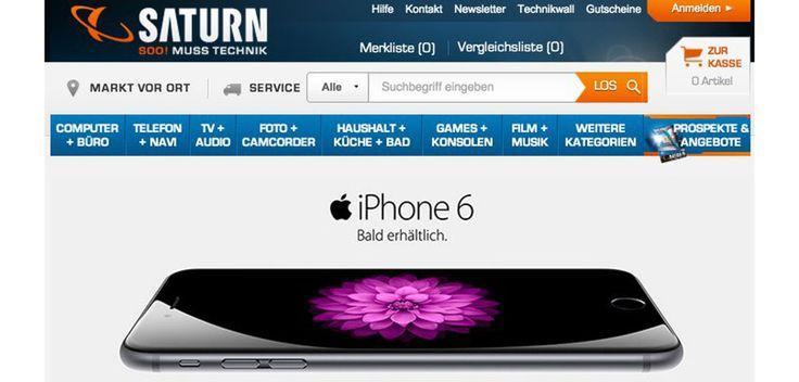 iPhone 6 bei Media Markt & Saturn - https://apfeleimer.de/iphone-6-media-markt-saturn - Apple iPhone 6 sowie iPhone 6 Plus bei Saturn und Media Markt kaufen: auch bei den Elektronikmärkten MediaMarkt und Saturn wird das iPhone 6 (Plus) zum Kauf angeboten. Während sich Media Markt noch mit dem Verkaufsstart bedeckt hält und keines der neuen Geräte listet bereitet sich Saturn bereits ...