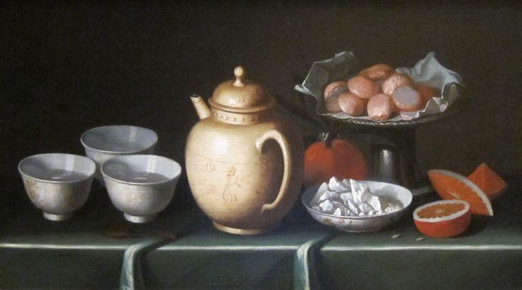 Still-life with Fruit and Pottery' by Juan Zurbarán, Cincinnati