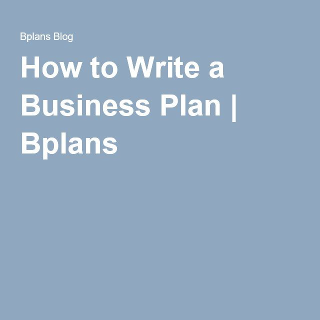 writing a business plan for dummies