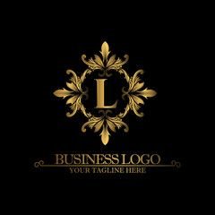 Luxury Gold Logo with the Letter L