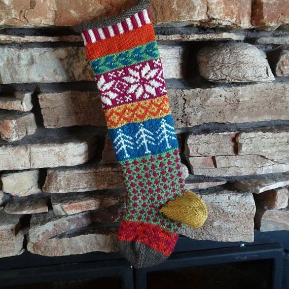 Knit Christmas Stocking Personalized Christmas Stockings