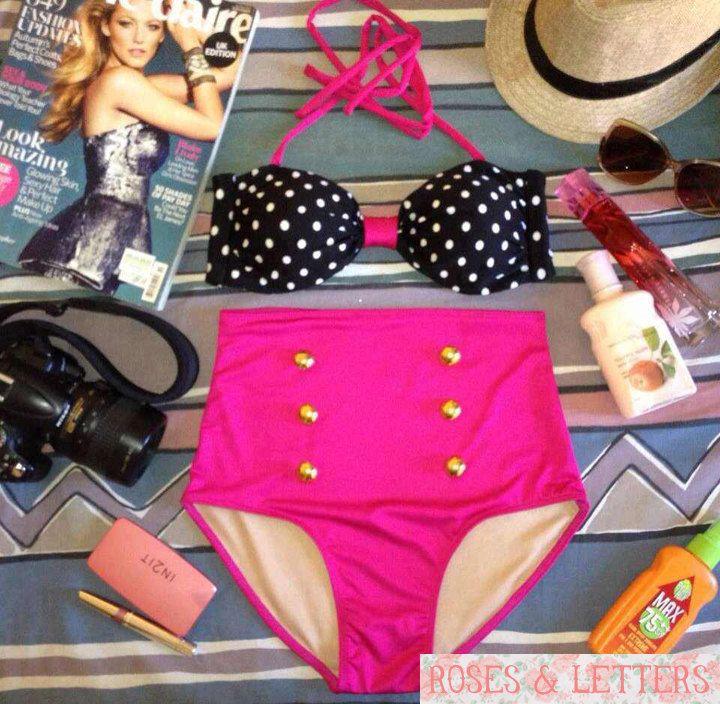 Daria  Retro Vintage Pin Up Handmade Pink Black by RosesnLetters, $39.99