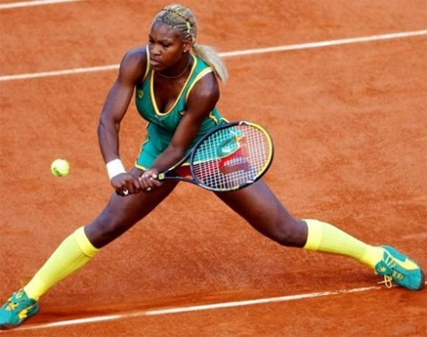 At the Australian Open Tennis Championships 2002, Venus' younger sister, Serena Williams reminded of Cameroo football team's uniforms for her fashion style