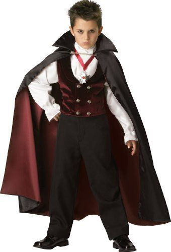 InCharacter Costumes Boys 2-7 Gothic Vampire Costume, Black/Burgundy, 6 by InCharacter
