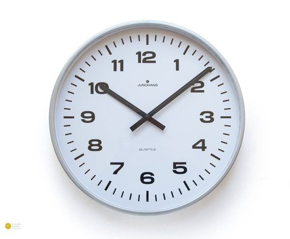 Xxl 16 Junghans Station Wall Clock Industrial 80s In 2020 Wall Clock Clock Vintage Wall Clock