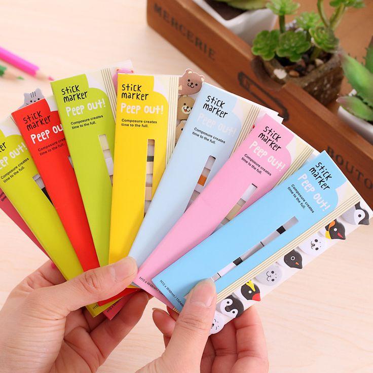 Cute Cartoon Animals Memo Pad Sticky Notes Memo Notebook Stationery Papelaria Escolar School Supplies