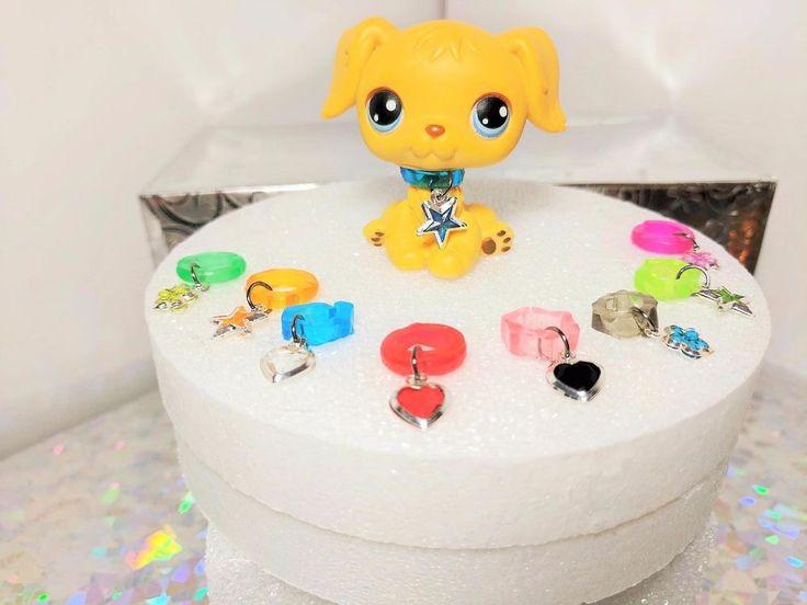Littlest Pet Shop Accessories Custom Charm Collars - Lot of 5 (Random)  LPS  #Handmade