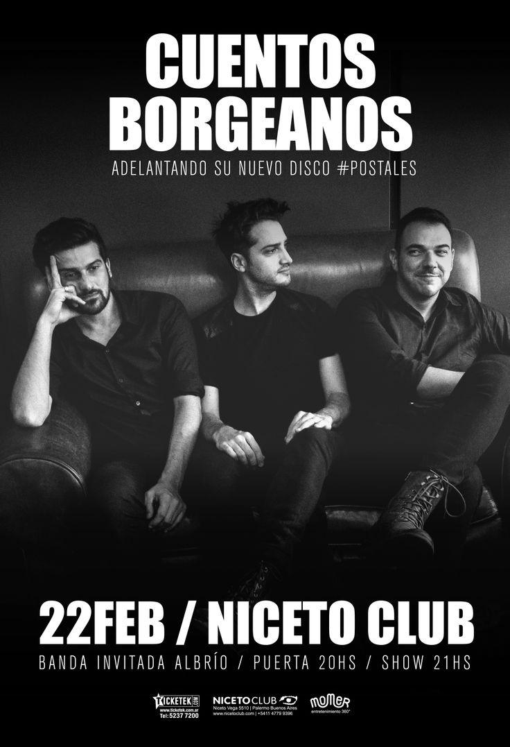Cuentos Borgeanos | Niceto Club 22/2 Poster | Flyer | Afiche