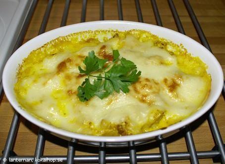 Recept: Currygratinerad blomkål