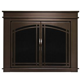 Pleasant Hearth Fenwick Oil-Rubbed Bronze Small Fireplace Doors- to finally replace the 70's gold! Yay!