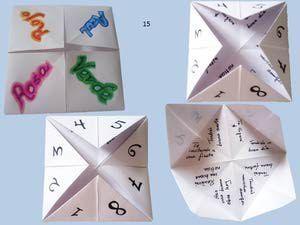 Haz rápidamente un comecocos (Comepiojos, sacapiojos,adivinador de papel).para jugar con los niños y entretenerlos de improviso.: Decora tu comecocos.