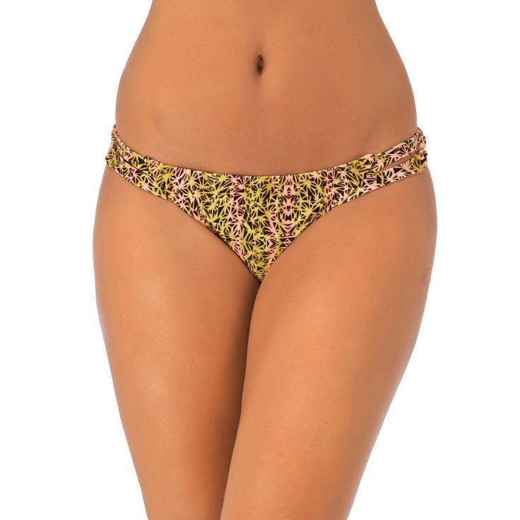 Women's RVCA Bikinis - RVCA Hola Hombre Full Bikini Bottom - Peach Out