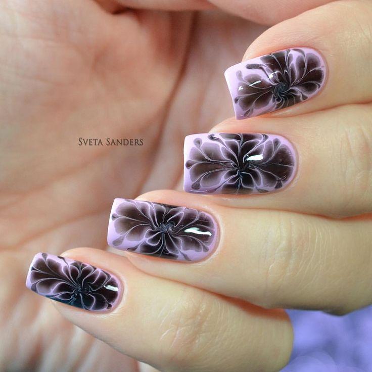 48 best Sveta Sanders Dry Marble Nail Art images on Pinterest | Nail ...