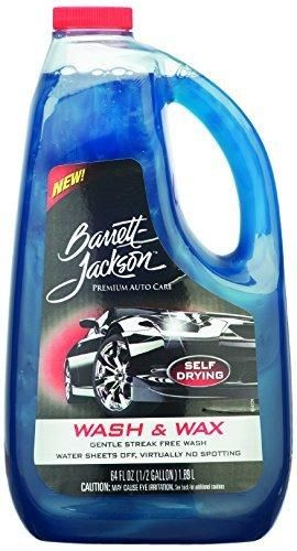 Barrett-Jackson Car Wash and Wax Liquid Super-Concentrated Car Shampoo and Car Soap - for Premium Car Care and Auto Wash 9957 64 oz.