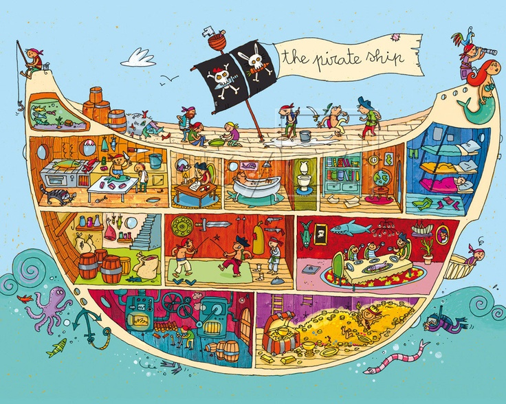 Image Detail for - The Pirate Ship - Dreidemy Prints - Easyart.com ...