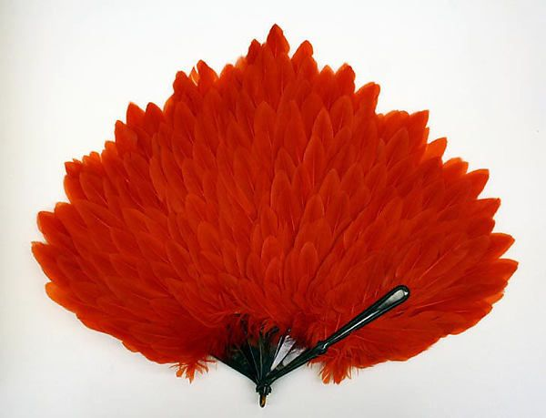 Fan 1920s Culture: American or European Medium: cellulose nitrate, feathers Dimensions: Height: 19 in. (48.3 cm)