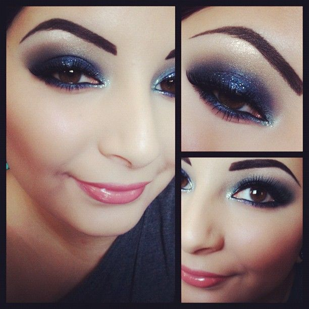 navy smoke eyes