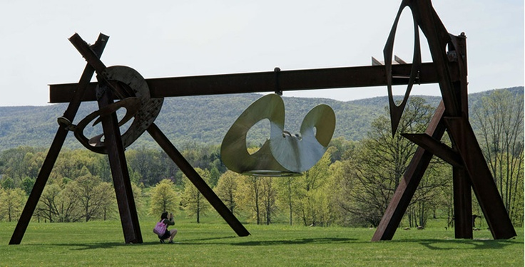 Storm King Art Center. Majestic grounds for truly beautiful sculptures. As the seasons change so does the art. An amazing experience.