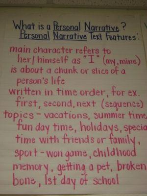 personal narrative by elva