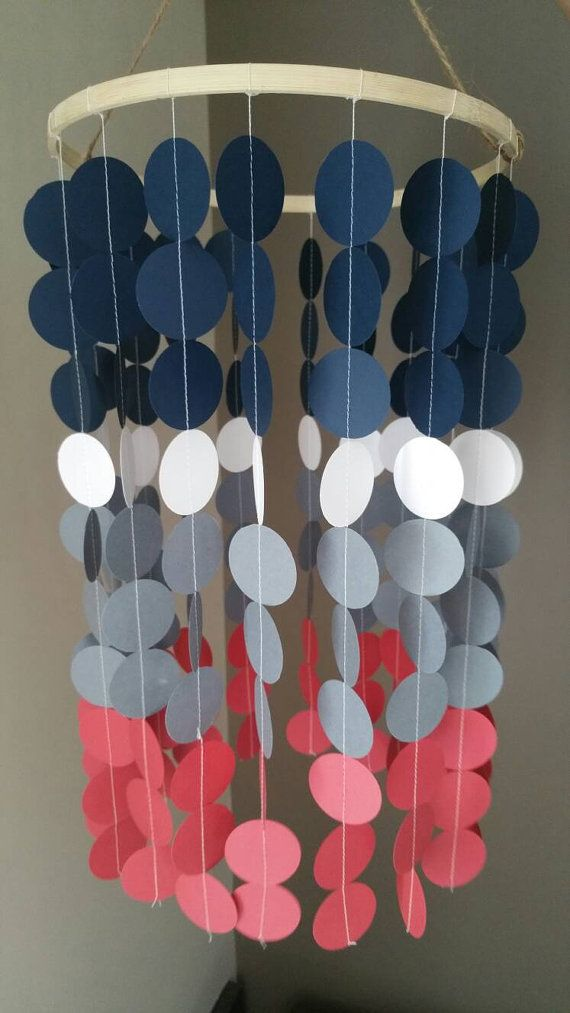 Mobile baby nursery mobile room colorful nautical by MissiCreation