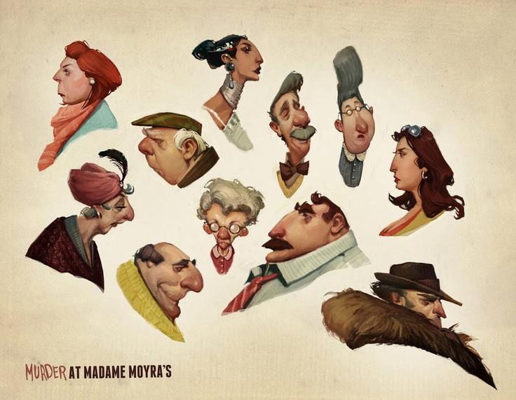 Murder Characters / LUNA LOUISE ► #character #design #concept #art #portrait #expression