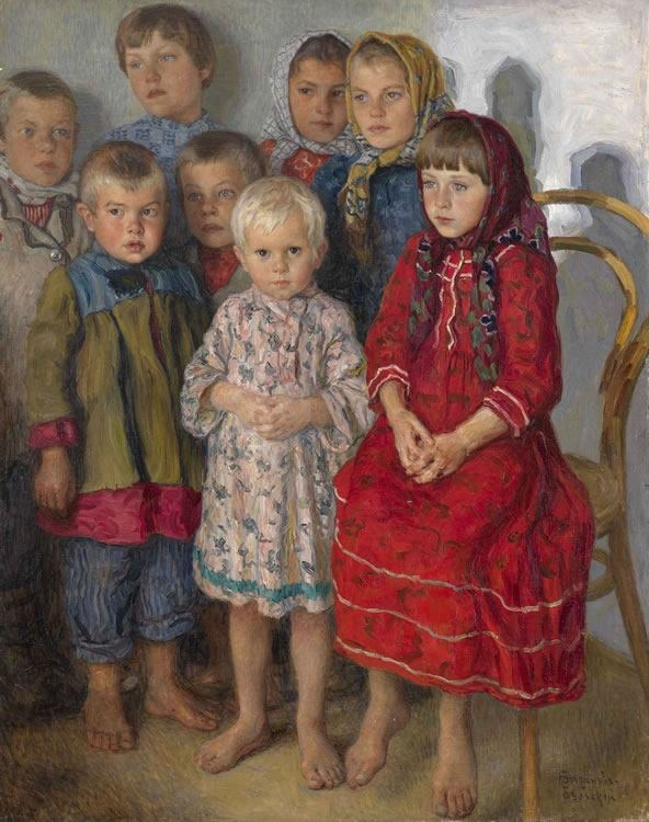 Nikolai Belsky (1868-1945), a Russian painter, is one of our favorites at Ackerman's Fine Art. Born in the village of Shitiki in Smolensk Governorate in 1868. In 1883 Bogdanov-Belsky attended the Semyon Rachinsky fine art school. Also during that year he studied icon-painting at Troitse-Sergiyeva Lavra. Bogdanov-Belsky studied modern painting at the Moscow School of Painting, Sculpture and Architecture.