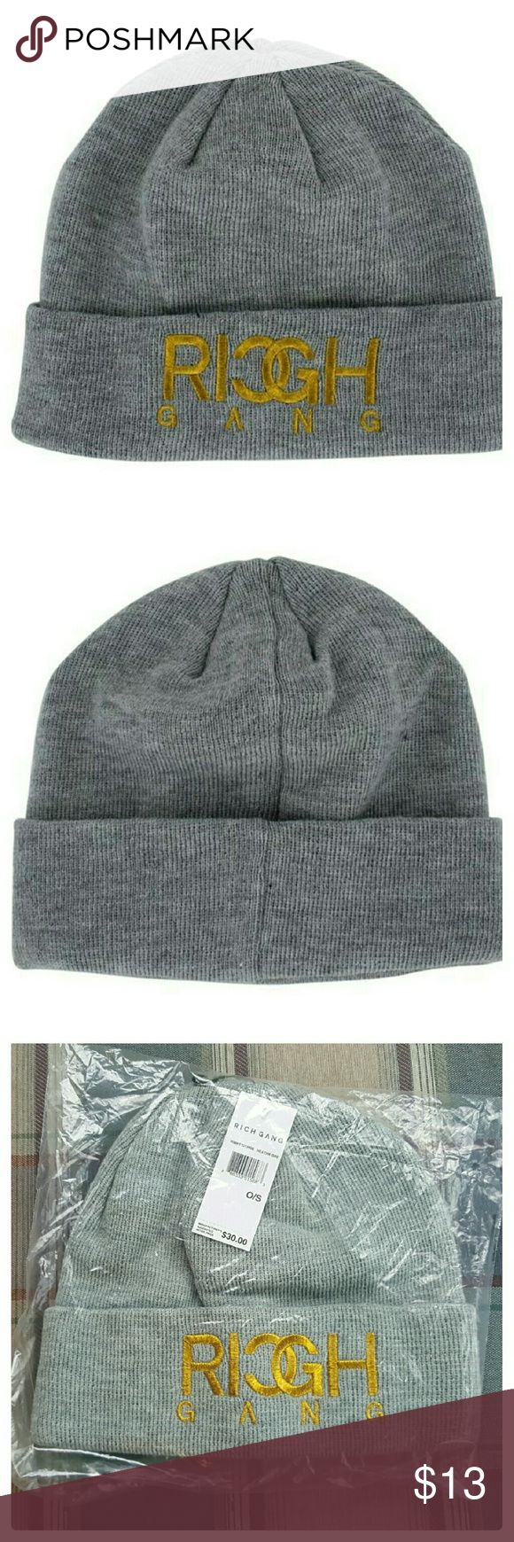 ⤵REDUCED⤵ **MENS** Rich Gang knit beanie NWT Heather gray beanie knit hat. Brand: Rich Gang. Brand new with tags and in package. Rich Gang Accessories Hats