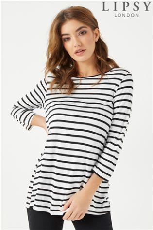 8ddc604e8ab4da Lipsy Stripe Boat Neck Top | WANT IT!