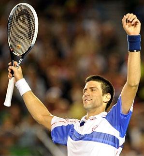 Novak Djokovic and his Head racquet