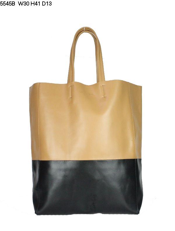 Celine Cabas Lambskin Leather Shopping Bag Apricot 5545B                 $179.00