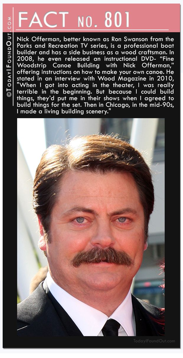 801 nick offerman better known as ron swanson from the parks and recreation tv series is a. Black Bedroom Furniture Sets. Home Design Ideas