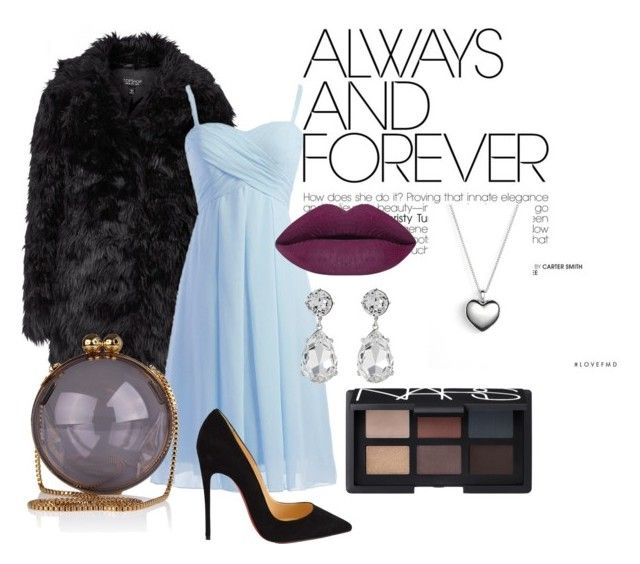 """""""Untitled #4"""" by zuxrav on Polyvore featuring Topshop, Christian Louboutin, NARS Cosmetics, Kenneth Jay Lane, Pandora, women's clothing, women, female, woman and misses"""