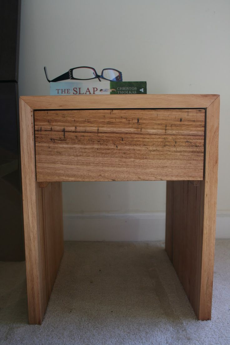 Wooden bedside table design - Bombora Custom Designs Messmate Bedside Table With Drawer