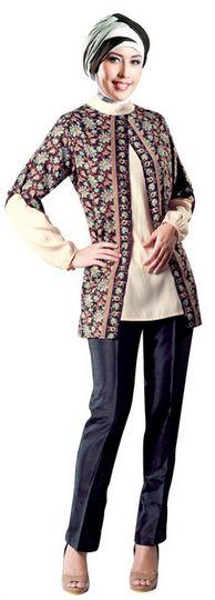 Foto Baju Batik Busana Muslim Untuk Perempuan Remaja