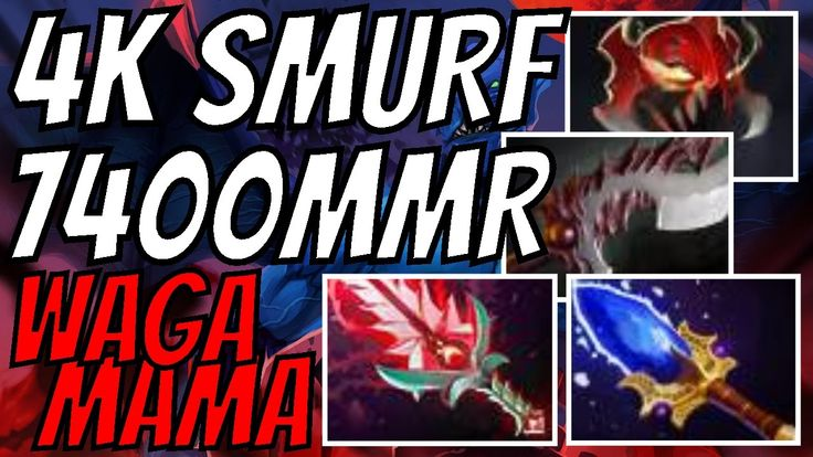 4k SMURF Wagamama 7400 MMR Night Stalker Dota 2 Gameplay