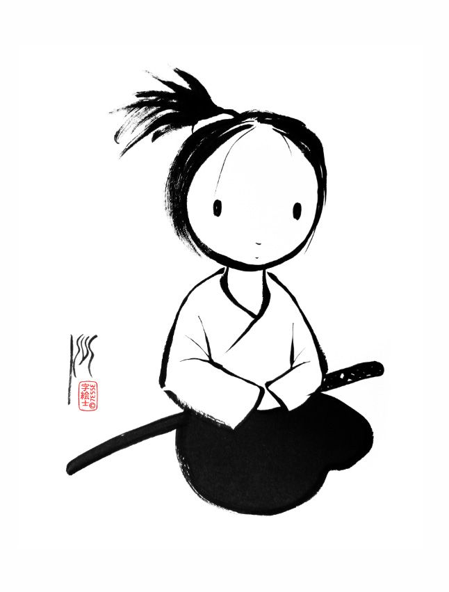 "Cute, or should I say, KAWAII ""Aikido, by:7e55e  #sumi #kawaii"""