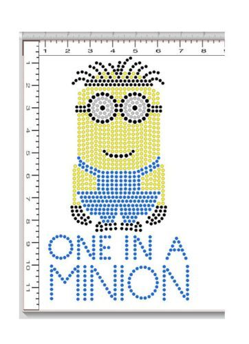 Minions despicable me despicable me and rhinestones on for Sticky flock pre cut templates