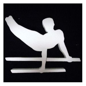 Male Gymnast (EPS Foam) is ready to decorate with water based paints or glitter. Perfect size for centerpieces.