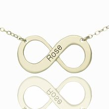A beautiful and unique Sterling Silver Infinity Necklace - makes a great gift for you, or to a loved one