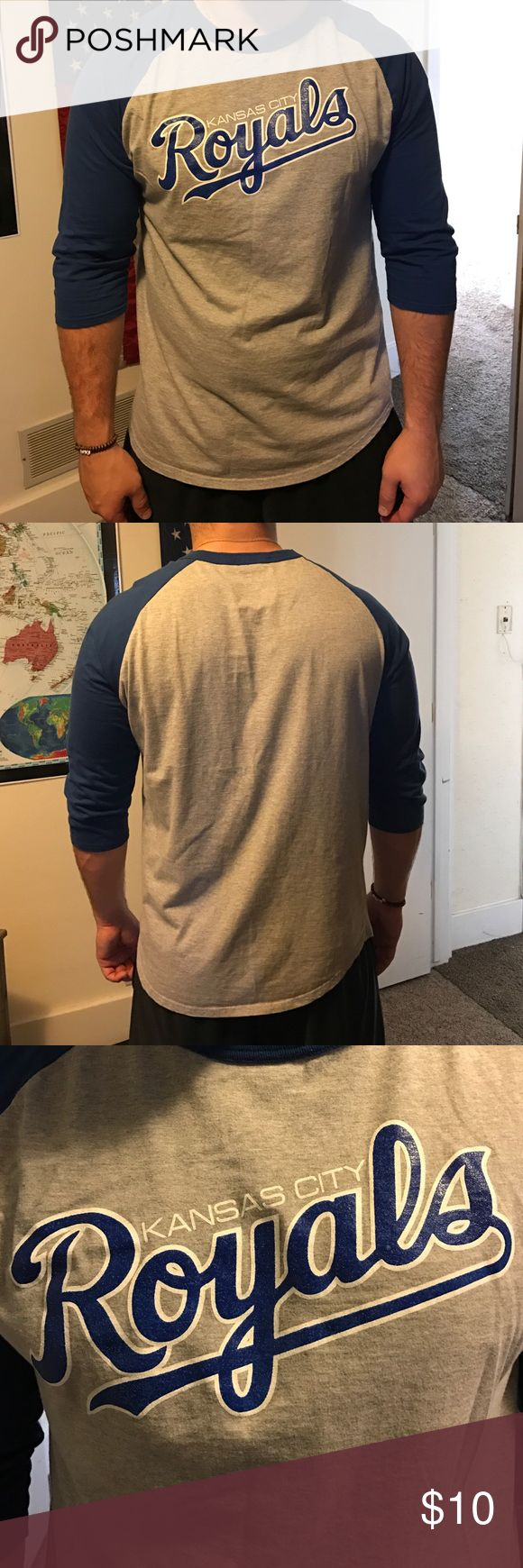 Kansas City Royals Baseball Tee for Men This Kansas City Royals baseball tee is perfect for any Royals fan! Size large and lightly worn and in good condition. Great deal! Sport Tek Shirts