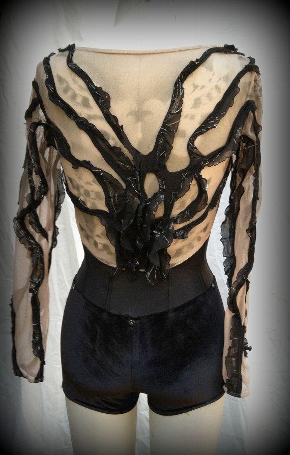 Dying Phoenix leo Aerial silks costume / custom dance costume / by HiWirecostumes