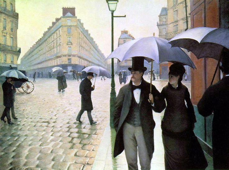 Strada di Parigi Gustave Caillebotte 1877