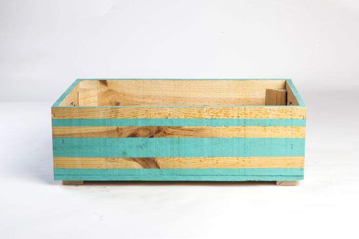 fruit box painted turquoise