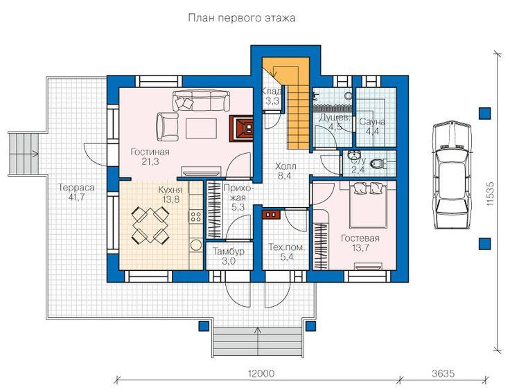 Проект коттеджа 38-76   acp-dom.ru