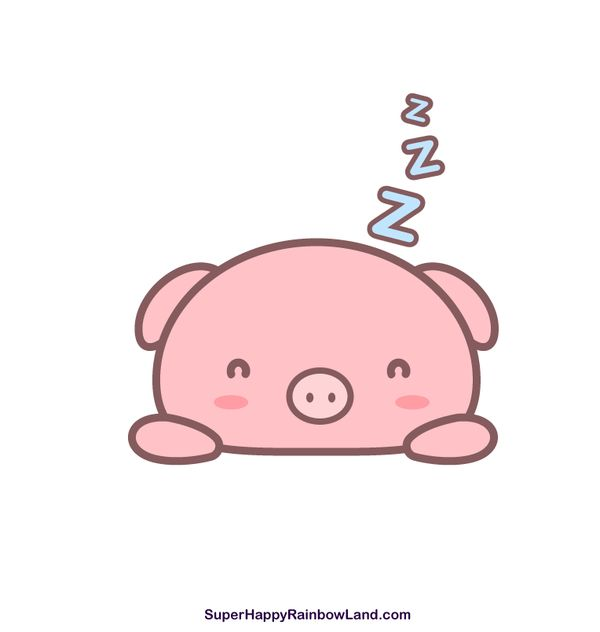Sleepy Piggy By Sh Rainbowlanddeviantart On DeviantArt