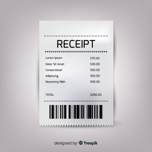 Receipt Template Collection With Realistic Design Receipt Template Vector Free Templates