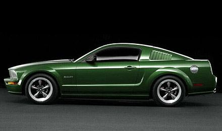 2008 Bullitt version of the 1968 Mustang GT driven by Steve McQueen in the film, Bullitt.