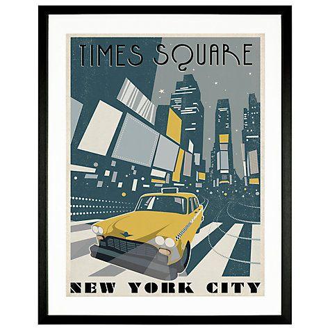 Buy Anderson Design Group - Times Square, Framed Print, 65 x 52cm Online at johnlewis.com