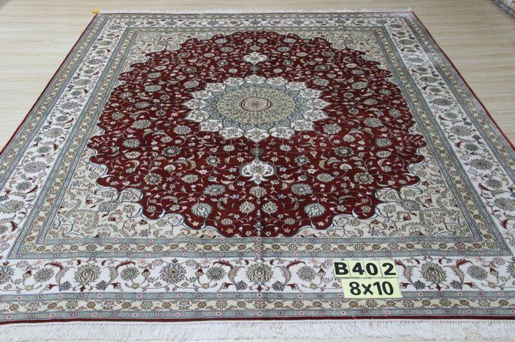 No.23912260, Handmade Silk Carpet. Kpsi 367, Density 230 lines. Size 9'x12' (274cm x 365cm). Real silk, Pure hand-made Origin: Henan China, Zhengzhou Yile Carpet Company. www.ylrug.com, info@ylrug.com, ylrug@126.com.+86-13849180658